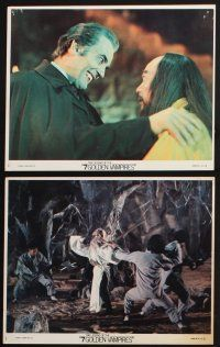 1e059 7 BROTHERS MEET DRACULA 9 8x10 mini LCs '79 Cushing, Legend of the 7 Golden Vampires!