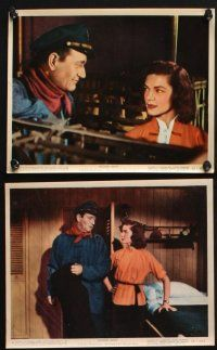 1e067 BLOOD ALLEY 8 color 8x10 stills '55 John Wayne, Lauren Bacall, directed by William Wellman!