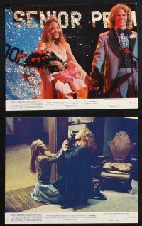 1e070 CARRIE 8 8x10 mini LCs '76 Stephen King, Sissy Spacek & crazy mother Piper Laurie!