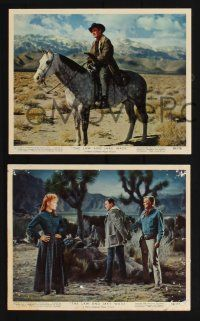 1e039 LAW & JAKE WADE 10 color 8x10 stills '58 Robert Taylor, Richard Widmark & Patricia Owens!