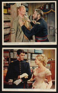 1e021 THUNDER OF DRUMS 12 color 8x10 stills '61 Richard Boone, George Hamilton, post Civil War!