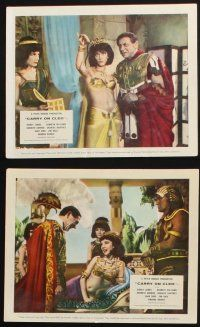 1e071 CARRY ON CLEO 8 color English FOH LCs '65 English sex on the Nile, funniest film since 54 BC