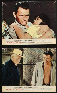 1e009 DEVIL AT 4 O'CLOCK 12 color English FOH LCs '61 Spencer Tracy & Frank Sinatra!