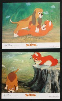 1e077 FOX & THE HOUND 8 color English FOH LCs '81 Disney, they were supposed to be enemies!