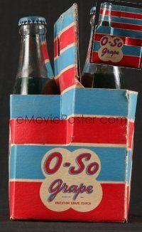 1h003 LOT OF 2 BOTTLES OF O-SO GRAPE SODA '40s they're still in the original packaging!