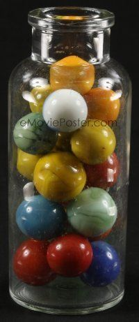 1h004 LOT OF 1 JAR OF LARGE MARBLES '50s pour them out and play with your friends!