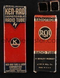 1h006 LOT OF 2 RADIO TUBES '30s quality products from RCA and Ken-Rad!