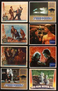 1h009 LOT OF 90 LOBBY CARDS '40s-80s great scenes from a variety of different movies!