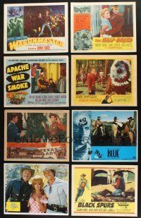 1h012 LOT OF 40 COWBOY WESTERN LOBBY CARDS '49 - '79 great images from 10 different cowboy movies!
