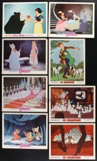 1h013 LOT OF 16 LOBBY CARDS FROM WALT DISNEY RE-RELEASES '70s-80s Fantasia, Cinderella & more!