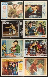 1h014 LOT OF 14 COWBOY WESTERN LOBBY CARDS '50s-60s Steve McQueen in Nevada Smith & more!