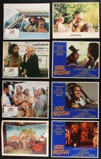 1h015 LOT OF 13 LOBBY CARDS '60s-70s great scenes from five different movies!