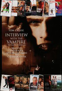 1h050 LOT OF 32 UNFOLDED DOUBLE-SIDED ONE-SHEETS '90s An Interview with the Vampire & many more!