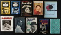 1h022 LOT OF 10 HARDCOVER ACTOR BIOGRAPHY BOOKS '60s-90s James Dean, Alfred Hitchcock & more!