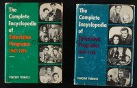 1h047 LOT OF 2 HARDCOVER BOOKS '70s two Complete Encyclopedia of Television Programs!