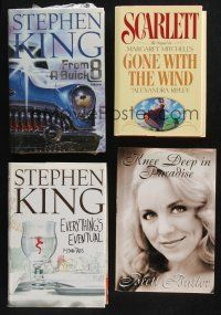 1h044 LOT OF 4 HARDCOVER NOVELS '90s-00s two Stephen King books, Gone with the Wind & more!