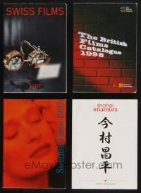 1h043 LOT OF 4 SOFTCOVER BOOKS '90s all about Swiss, Swedish, British & Japanese films!