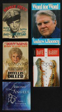 1h042 LOT OF 5 HARDCOVER BOOKS '80s-10s Jane Seymour, Don Knotts as Barney Fife & more!