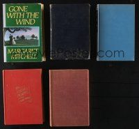 1h041 LOT OF 5 HARDCOVER NOVELS '20s-60s Margaret Mitchell's Gone with the Wind & more!