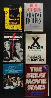 1h039 LOT OF 6 HARDCOVER BOOKS '60s-80s Bette & Joan, Star Wars, Great Movie Stars & more!