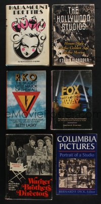 1h038 LOT OF 6 HARDCOVER BOOKS ABOUT MOVIE STUDIOS '70s-90s Paramount, Fox, RKO, Columbia & more!