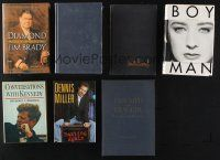 1h031 LOT OF 7 CELEBRITY BIOGRAPHY HARDCOVER BOOKS '70s-00s The Kennedys, Dennis Miller & more!