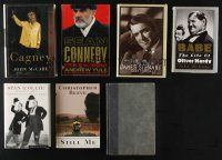 1h033 LOT OF 7 ACTOR BIOGRAPHY HARDCOVER BOOKS '80s-00s James Cagney, Laurel & Hardy + more!