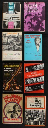 1h025 LOT OF 8 HARDCOVER BOOKS ABOUT HOLLYWOOD '60s-80s great stories about stars & the city!