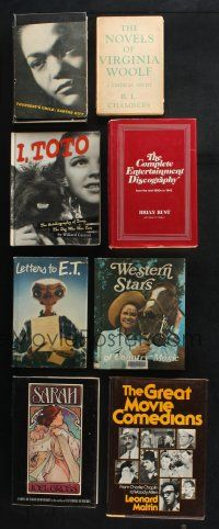1h026 LOT OF 8 HARDCOVER BOOKS '40s-00s Toto, E.T., Great Movie Comedians, Western Stars & more!