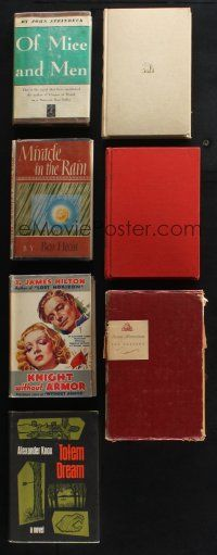 1h023 LOT OF 9 HARDCOVER NOVELS THAT BECAME MOVIES '30s-60s Of Mice & Men, Anna Karenina & more!