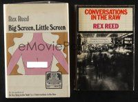 1h046 LOT OF 2 HARDCOVER BOOKS WRITTEN BY REX REED '60s-70s Conversations in the Raw & more!