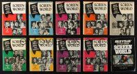 1h017 LOT OF 10 HARDCOVER SCREEN WORLD FILM ANNUAL BOOKS '70s filled with movie information!