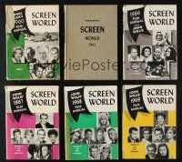 1h019 LOT OF 6 HARDCOVER SCREEN WORLD FILM ANNUAL BOOKS '60s filled with movie information!