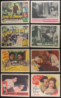 1h008 LOT OF 98 LOBBY CARDS '39 - '82 great scenes from a variety of different movies!