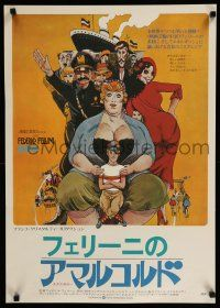 1j016 AMARCORD Japanese '74 Federico Fellini classic comedy, art by Giuliano Geleng!