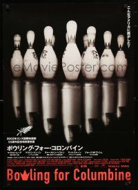 1j053 BOWLING FOR COLUMBINE Japanese '02 Michael Moore gun control documentary, different image!