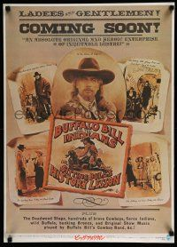 1j057 BUFFALO BILL & THE INDIANS Japanese '76 art of Paul Newman as William F. Cody by McMacken!