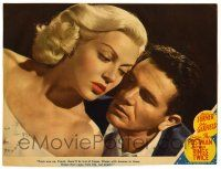 1r821 POSTMAN ALWAYS RINGS TWICE LC #6 '46 great close up of John Garfield & sexy Lana Turner!