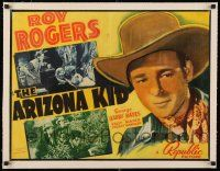 1s028 ARIZONA KID linen 1/2sh '39 great image of Roy Rogers, but REALLY lesser condition