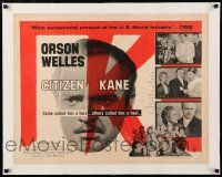 1s033 CITIZEN KANE linen style A 1/2sh R56 some called Orson Welles a hero, others called him a heel