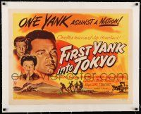 1s047 FIRST YANK INTO TOKYO linen style A 1/2sh '45 Tom Neal & Barbara Hale, one Yank vs. a nation!