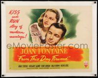 1s051 FROM THIS DAY FORWARD linen style A 1/2sh '46 Joan Fontaine & Mark Stevens, a modern marriage!