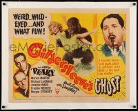 1s052 GILDERSLEEVE'S GHOST linen style A 1/2sh '44 Harold Peary horror comedy, sexy girl & ape!