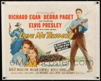 1s057 LOVE ME TENDER linen 1/2sh '56 Elvis Presley, Mr Rock n Roll in the story he was born to play