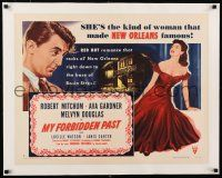1s061 MY FORBIDDEN PAST linen style A 1/2sh '51 Robert Mitchum, Ava Gardner made New Orleans famous!