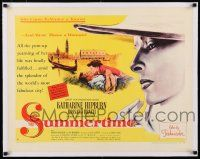 1s067 SUMMERTIME linen style A 1/2sh '55 Katharine Hepburn came home a woman, David Lean!