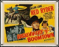 1s071 VIGILANTES OF BOOMTOWN linen style B 1/2sh '47 Rocky Lane as Red Ryder, Blake as Little Beaver