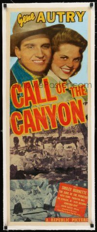 1s011 CALL OF THE CANYON linen insert '42 singing cowboy Gene Autry & pretty Ruth Terry!