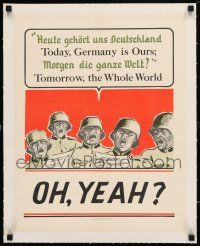 1s004 TODAY GERMANY IS OURS linen 16x20 WWII war poster '41 Tomorrow the Whole World, MacLean art!