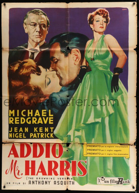 1 of 1 : 2b024 BROWNING VERSION Italian 1p '51 Michael Redgrave's wife is  cheating on him, Manno art!